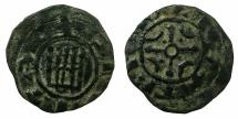 World Coins - CRUSADER.County of Tripoli.attributed to Raymond III 1173-1187.AE.Castle type.1a.