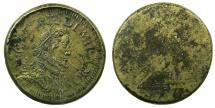 World Coins - ITALY.MILAN.Philip IV King of Spain and Duke of Milan 1621-1665.Brass weight for Ducatone ( 1622 ).