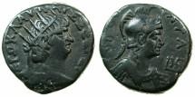 Ancient Coins - EGYPT.ALEXANDRIA.Nero AD 54-68.Billon Tetradrachm, struck AD 66/67.~#~.Bust of ROMA.