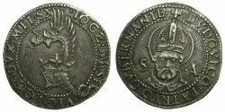 World Coins - ITALY.MILAN.Giovanni Galeazzo Maria and Ludovico Maria Sforza AD 1481-1494.AR.Grosso of 5 Soldi.~~~Unpublished varient?