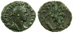 Ancient Coins - EGYPT.ALEXANDRIA.Probus AD 276-282.Billon Tetradrachm, struck AD 277/278.~#~.Tyche standing.
