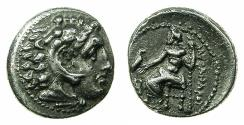 Ancient Coins - MACEDONIAN EMPIRE.Alexander III The Great 336-323.AR.Drachma, posthumus issue circa circa 325-323 BC.Mint of MILETUS. ***Lifetime issue of Alexander ***