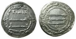 World Coins - ABBASID CALIPHS. al-Mansur 136-158H ( AD 754-775 ).AR.Dirhem.dated 150H. Mint: Medinat al Salam ( City of Peace ).