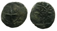 World Coins - CRUSADER STATES.Counts of TRIPOLI.Bohemond IV,V or VI C.1201-1274.Bi.Denier.Type 5