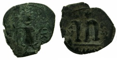 Ancient Coins - PSEUDO-BYZANTINE.7th Cent AD.AE.Follis, after Constans II ( AD 641-668 ).