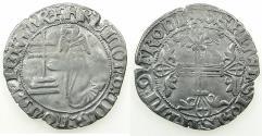 World Coins - RHODES.Knights of Saint John. Helion de Villeneuve AD 1319-1346.AR.Gigliato 2nd Type. ****VERY RARE ****