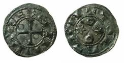 World Coins - SPAIN.Castile and Leon. Alfonso VI 1073-1109.Billon.Dinero.Annulet and star type. Mint of TOLEDO.