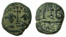 Ancient Coins - BYZANTINE EMPIRE.Heraclius AD 610-641.AE.Dodekanummia.Mint of ALEXANDRIA.