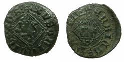 World Coins - SPAIN.CASTILE-LEON, Kingdom.Henry IV AD 1454-1474.Billon.Blanca' del Rombo'.Mint of SEVILLE