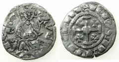 World Coins - CRUSADER STATES.CYPRUS.Hugh IV AD1324-1359.AR.Gros Petit. Obverse. B with pellet above.