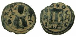 Ancient Coins - ARAB BYZANTINE.HIMS ( EMESSA ).Anonymous 7th cent AD.AE.Fals.Imperial facing bust.