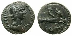 Ancient Coins - MYSIA.PARIUM.Julia Paula Augusta AD 219-220.AE.21.9mm. ~#~.Capricorn.