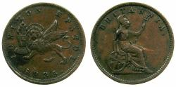 World Coins - GREECE.IONION ISLANDS, under Bristish Administration.AE.1 Lepton 1835 dot. Flan 16.4mm