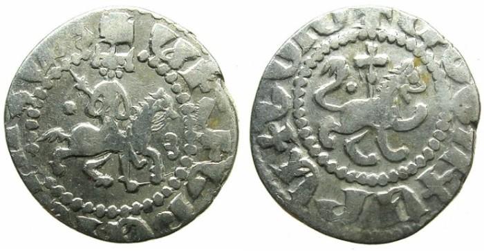 Ancient Coins - ARMENIA.Oshin AD 1308-1320.AR.Takvorin.Mint of SIS.Sigla Dot and Y.