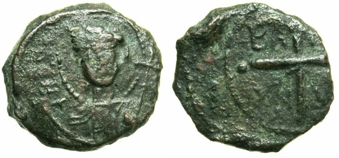 Ancient Coins - CRUSADER.ANTIOCH.Bohemond II AD 1126-1130.AE.Follis.~~~Saint Peter.