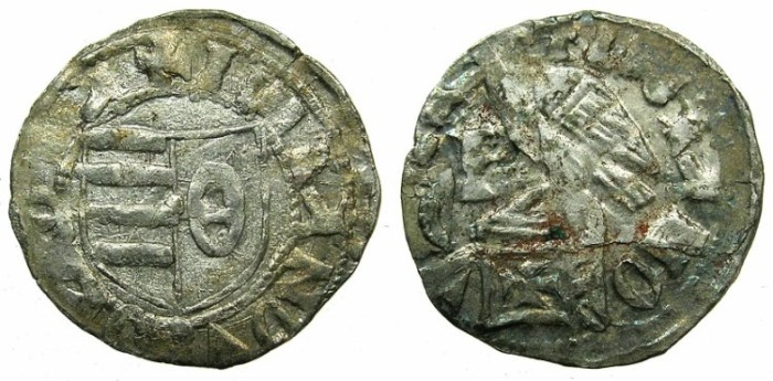 Ancient Coins - ROMANIA.VOIVODES OF WALLACHIA.Dan I 1383-1386.Denier.