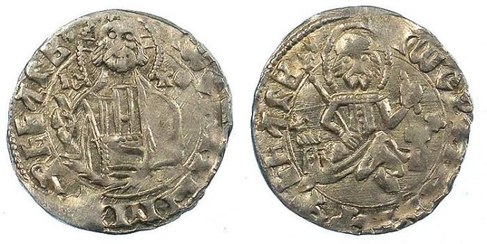 Ancient Coins - BULGARIA.John Stracimar AD 1360-1396.AR.Grosch
