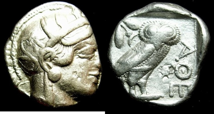 Ancient Coins - ATTICA ATHENS. AR Tetradrachm .struck after 449 BC. ATHENA.OWL
