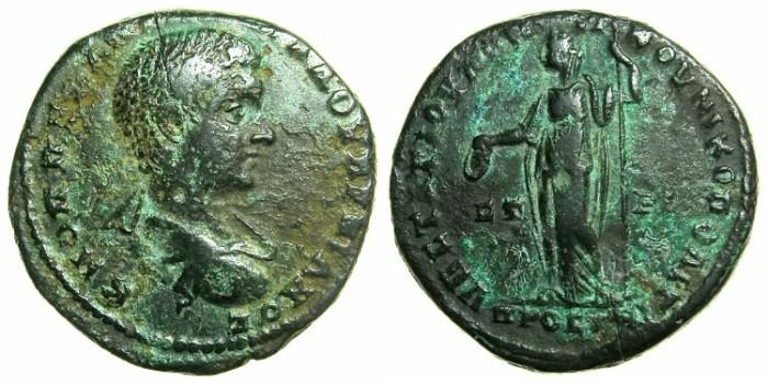 Ancient Coins - MOESIA INFERIOR.NIKOPOLIS AD ISTRUM.Diadumenian Caesar AD 218, under Macrinus AD 217-218.AE.26.9mm. ~#~. Hera standing.