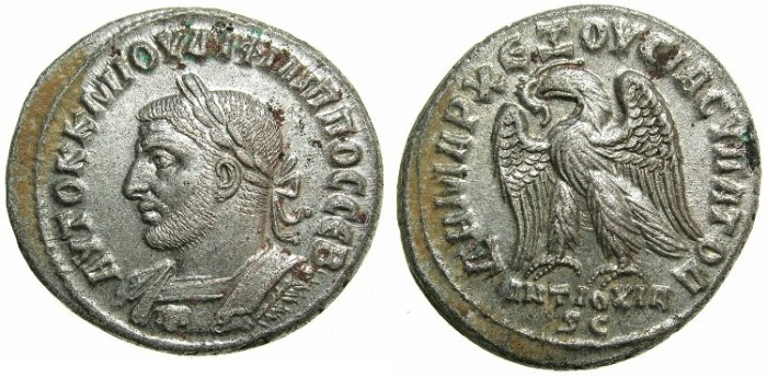 Ancient Coins - SYRIA.ANTIOCH.Philip I AD 244-249.Billon Tetradrachm.~~~Bust Philip left with Gorgoneion on cuirass.***RARE VARIENT, CHOICE CONDITION****
