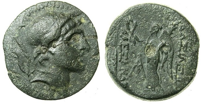 Ancient Coins - SELEUCID EMPIRE.SYRIA.ANTIOCH.Alexander I Balas 150-145 BC.AE.18.Alexander the Great.Nike.