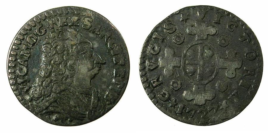 World Coins - ITALY.SARDINIA.Victtorio Amadeo II 1675-1730.King of Sardinia 1720-1730.AR.Mezzo Reale Sardo.1727.Mint of TURIN.