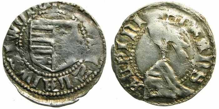 Ancient Coins - ROMANIA.Voivodes of WALLACHIA.Vladislav I ( Vlaicu Voda ) AD 1364-1377.Billon Dinar.Type II.