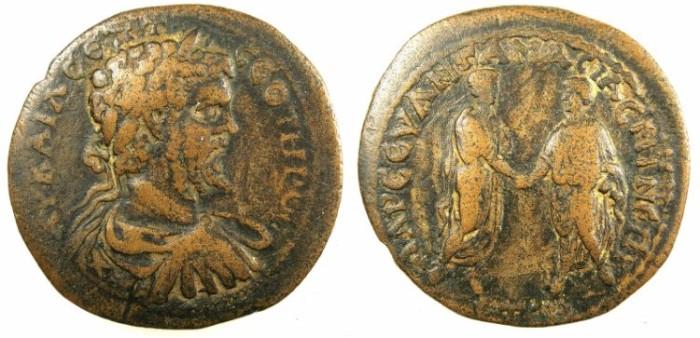 Ancient Coins - PONTUS.AMAISA.Septimius Severus AD 193-211.AE.30.Rev.Caracalla and Geta