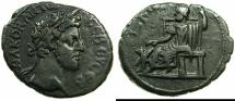 Ancient Coins - EGYPT.ALEXANDRIA.Commodus, sole reign AD 180-192.Billon Tetradrachm, stuck AD 181/82.~#~.Serapis seated left.