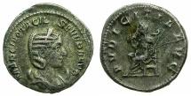 Ancient Coins - ROMAN.Otacilia Severa, wife of Philip I, Augusta AD 244-249.Billon Antoninianus, 4th issue.~#~.Pudicitia seated.