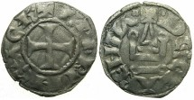 World Coins - CRUSADER STATES.Principality of ACHAIA.Charles I or II of Anjou AD 1278-1285-1289. Bi.Denier.Type KA 101.Mint of Clarentza.