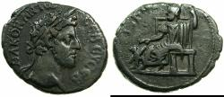 Ancient Coins - EGYPT.ALEXANDRIA.Commodus, sole reign AD 180-192.Billon Tetradrachm, stuck AD 181/82.~#~.Serapis seated left.
