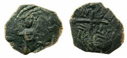 World Coins - CRUSADER STATES.Principality of ANTIOCH.Roger of Salerno Regent AD 1112-1119.AE.Follis. Standing figure of Christ.