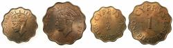 World Coins - CYPRUS.George VI 1936-1952.AE.Piastra and Half Piastre 1949. BU. *** Final denominations bearing the value Piastre ****