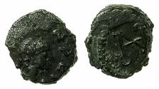 Ancient Coins - ROMAN.Leo I restored AD 476-491.AE.Nummis. Mint of CONSTANTINOPLE. Reverse. Monogram.