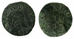 World Coins - ITALY.SAVOY.Carlo Emanuele II Duke 1648-1675.AE.Mezzo Soldo.N.D.Mint of TURIN.