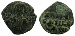 Ancient Coins - BYZANTINE EMPIRE.Anonymous.AE. Follis Class A.Mint of CONSTANTINOPLE.~#~.Detailed portrait of Christ.