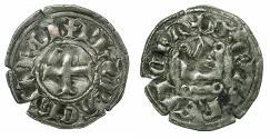 World Coins - CRUSADER STATES.Principality of ACHAIA.Philip of Taranto AD 1307-1313.Bi.Denier.Type 2. Retrograde S in legend.