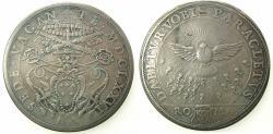 World Coins - ITALY.VATICAN.Sede Vacante 1676.AR.Piastre.Rome mint.Camerlengo Cardianal Paluzzo Paluzzi-Altieri 22.7-21.9.1676