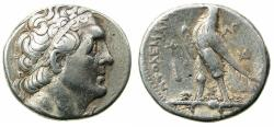 Ancient Coins - PTOLEMAIC EMPIRE.PHEONICIA.Ptolemy II Philadelphus 285-246 BC.AR.Tetradrachm.Mint of TYRE.Struck c.253/2 BC.