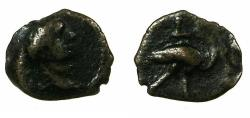Ancient Coins - EGYPT.ALEXANDRIA.Trajan AD 98-117. Anepigraphic issue.AE.Chalkon.Reverse.Ibis. Denomination not recorded in Emmett.