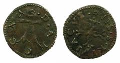 World Coins - ITALY.ANCONA.Anonymous 15th cent AD.AE.Quattrino.