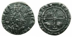 World Coins - CRUSADER.CYPRUS.Henry II AD 1285-1324.AR.Gros. Overstruck on an unknown coin