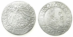 World Coins - GERMANY.PRUSSIA.Albert of Brandenburg 1525-1569.AR.Grosch.1544.