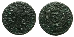 World Coins - ITALY.SICILY.Philip V King of Spain 1701-1746, king of SICILY 1701-1713.AE.3 Piccioli 1701. Mint of PALERMO.