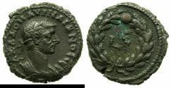 Ancient Coins - EGYPT.ALEXANDRIA.Aurelian AD 270-275.Billon Tetradrachm, struck AD 273/74.~#~.Regnal year within wreath.