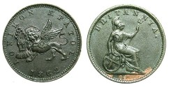 World Coins - GREECE.IONION ISLANDS.1 Lepton 1862.Roman figure I for Arabic 1.