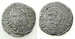 World Coins - HUNGARY.Loius I of Anjou AD 1342-1382.AR.Dinar. Saint Ladislav