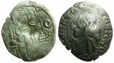 World Coins - SERBIA.Stefan VIII Uros IV Dusan as Emperor AD 1345-1355.AR.Dinar.~~~Bulgarian countermark T