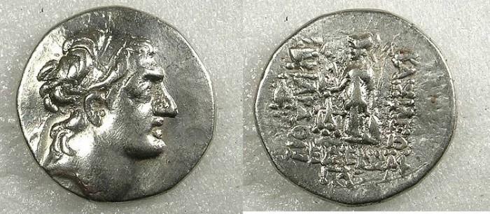 Ancient Coins - Cappadocia Ariarathes IV Eusebes 220-163 BC.AR.Drachm Year 33
